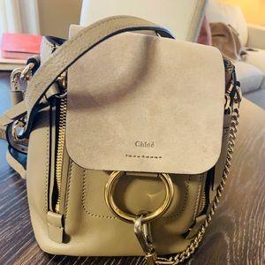 Chloe Faye Mini Calf Leather/Suede Backpack